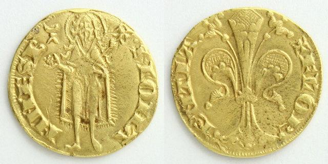 フィレンツェで発行されたフローリン金貨